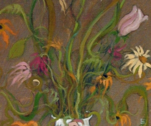 Wildflowers, 1989, oil on canvas, 21.5 x 14.25 inches