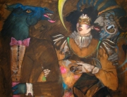 Halloween, 1990 Oil on Canvas