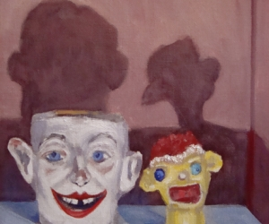 Handsome Men (from the Objects of My Affection series) by Lin Price, oil on linen, 12