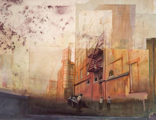 ROSE-COLORED GLASSES: Mixed Media Paintings On Papers by Isaac Payne
